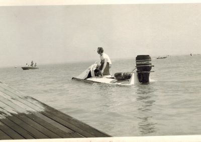 1974.0616 Kevin JAQUES near start boat1st Beer Can Regatta