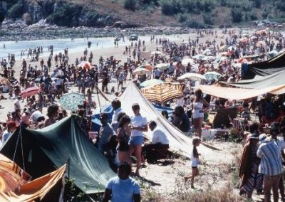 Crowds of people at Mindil beach for the 1980 Beer Can Regatta.